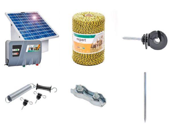 Pachet Gard electric mistreti Sirus 8 + panou solar