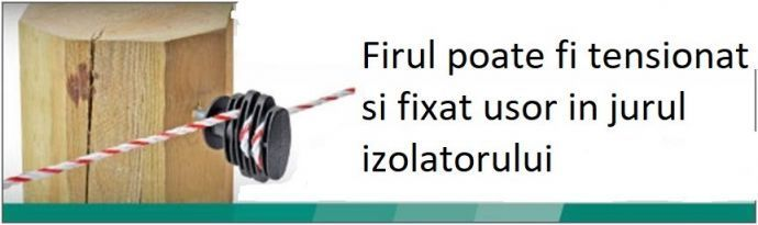 Izolator fixare gard electric 25buc | Garduri Electrice Animale